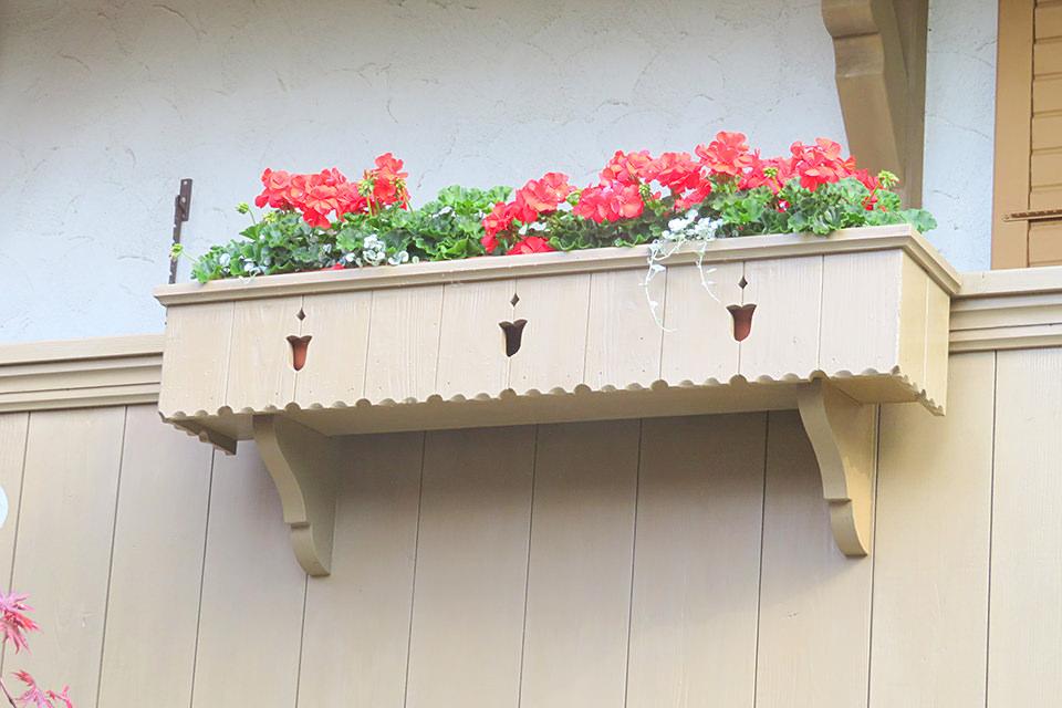 Blumenkisten in Holz